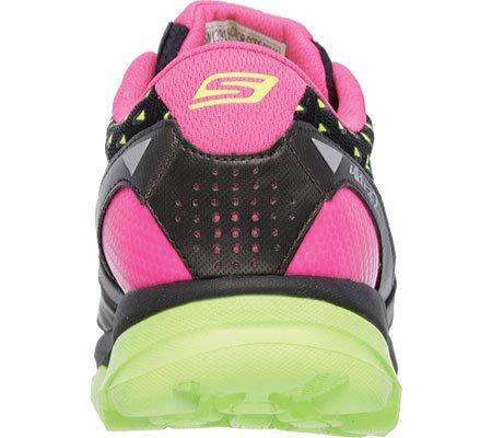 Skechers Go Run Ultra 2, Chaussures de sport femme Noir - Noir (Noir/vert anis)