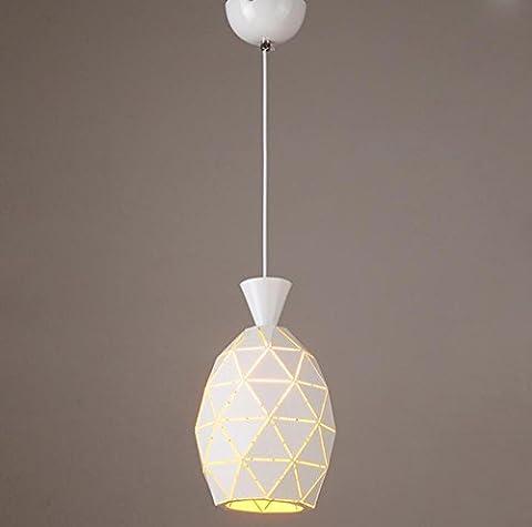 GL&G Art und Weise Eisen-Gaststätte beleuchtet helles Kronleuchter-hängendes Licht für Hauptdekorationlampen, LED-Birne eingeschlossen, warmes weißes Licht,1 head,16*27cm