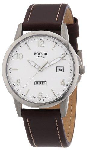 Boccia Herren-Armbanduhr Mit Lederarmband Sport 3625-01