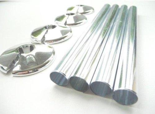 Radsnaps Tubi e collari copritubo in confezione da 4, 15 mm, senza PP, cromati