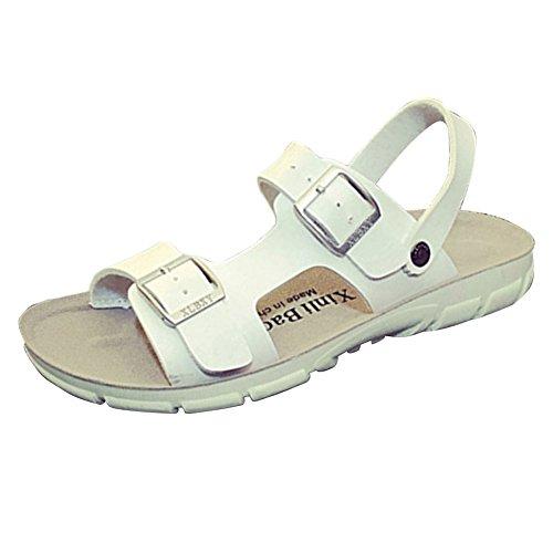 Sandali Unisex Adulto - Sandali Ciabatte Pantofole Estate da Uomo Bianca