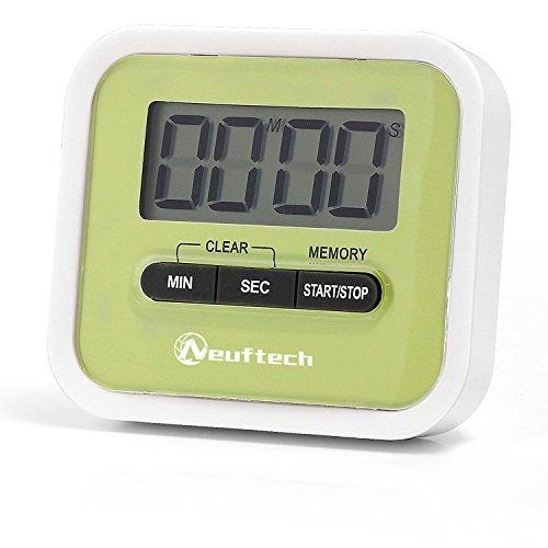 Neuftech Digital Kitchen Timer Kurzzeitmesser Küchentimer kurzzeitwecker mit großes Digitaldisplay...