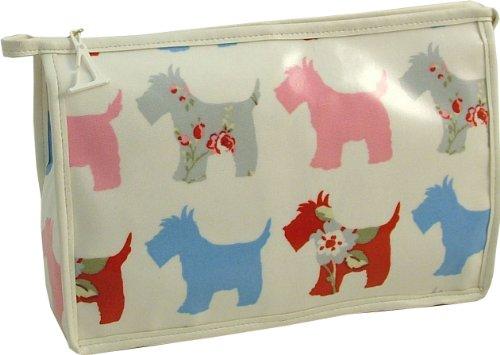 Vagabond Scottie Dog Öl Tuch groß Reisetasche Kulturbeutel Toilettenartikel -
