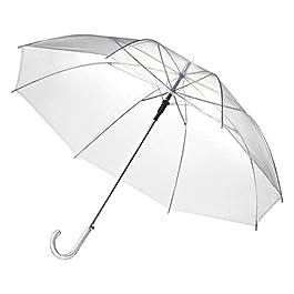 Bellissimo ombrello grande diametro (102 cm) trasparente, per matrimonio, ombrello per due.