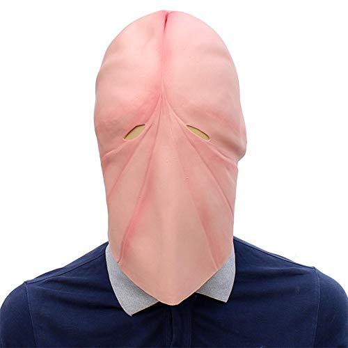 SCLMJ Halloween-Ball-Maske Sonderbare Kahle Rosa Masken-Maske Für
