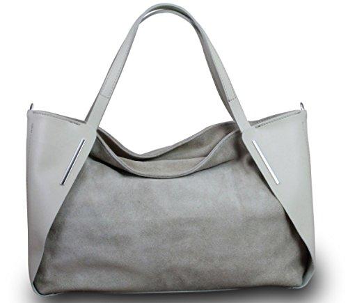 Fabriqué en Italie Luxe Femme Sac à main Sac à main Bag Shopper en cuir véritable naturel