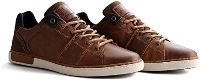 NoGRZ P.Parler Herren Leder Sneakers | Cognac/Grau/Off Weiß