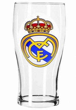 Match-brillen-brillen Herren (Offizielle Fußball Team Wappen Pint Glas (Verschiedene Mannschaften zur Auswahl.) alle Brillen Werden in offizieller Verpackung. Real Madrid Pint)
