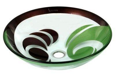Arvind Interiors DesignerToughned Glass Round Designer Wash Basin/ Vessel/ Table Top Wash Basin/ Long Lasting And Durable
