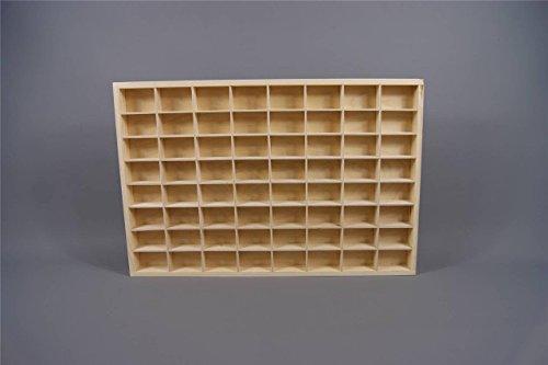 Setzkasten Sammelvitrine Sammelbox für kleine Sammelgegenstände Spielzeuge unbehandelt