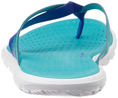 adidas BORAMA Flex CF Y, Tongs Femme Multicolore - Verde / Azul / Blanco (Verimp / Azufue / Ftwbla)