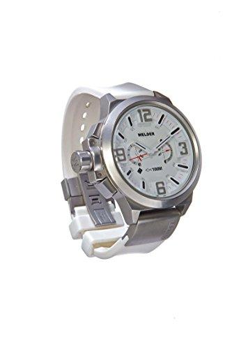 Welder K22-900 - Reloj para hombres, correa de goma color blanco