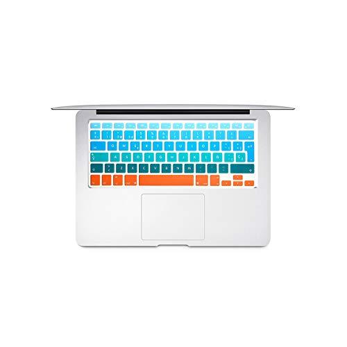 Tastaturfolie Spanish Colorful Keyboard Protective Film for Mac Book pro 13air 15 Retina A1466 A1502A1398A1278 EU Silicone Keyboard Cover Skin,Multicolor
