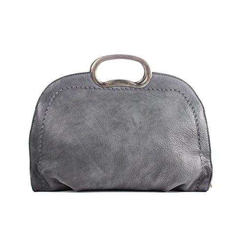 À la main de style original la première couche littéraire occasionnels cuir portable sac à bandoulière diagonale unique,gris foncé Dark grey