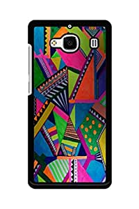 Caseque Geometric Art Back Shell Case Cover for Xiaomi Redmi 2s