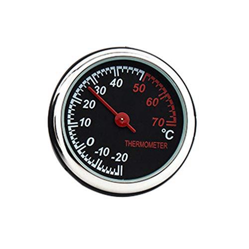 idain Auto Armaturenbrett Uhr-Mini Fahrzeug Uhr Dekoration Thermometer No -