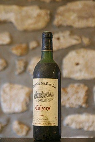 Cahors, rouge, Domaine des Rigalets, A. Boulimié 1984