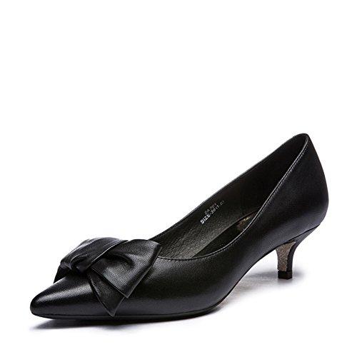 Dame arc printemps doux cuir talons aiguilles/Chaussures pointues C
