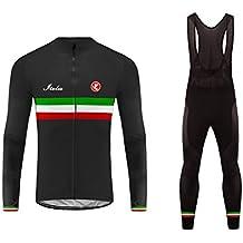 Uglyfrog Designs Bike Wear Inverno Magliette da Ciclismo da Uomo Maglia a Manica Lunga Uomo Traspirante Bicicletta Jersey Casinò e attrezzature Pentole e padelle