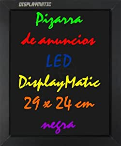 Ardoise Lumineuse LED display board DisplayMatic 29 x 24 cm noir - Cablematic