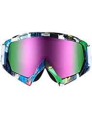 OUTAD Gafas de Esquí Snowboard Unisex Anti-vaho con Protección UV400 (a color)