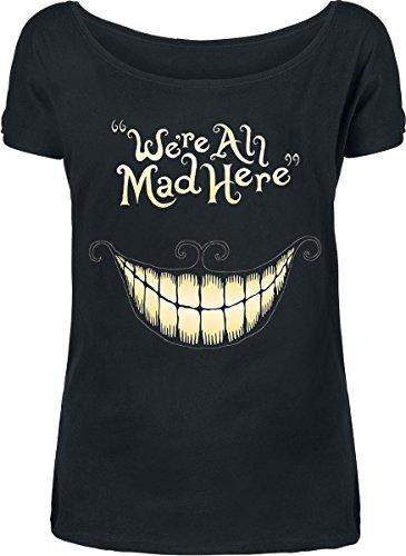 Walt Disney Alice in Wonderland - Mad Mouth T-shirt Femme noir Noir