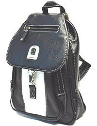 Damen City Leder Optik Rucksack Multi Fuktionsrucksack nur noch in schwarz