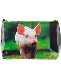 Trousse de Toilette Tigapaw ®, diseño de cerdito, 20 cm de longitud, 14 cm de alto, Schweinchen Schweinchen