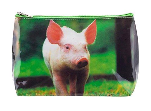 Trousse de Toilette Tigapaw ®, design Petit Cochon, 20 cm de long, 14 cm de haut, Schweinchen Schweinchen