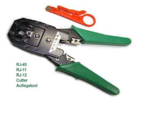Pince à sertir pour cable reseau RJ45 / RJ12 / RJ11 + pince à dénuder