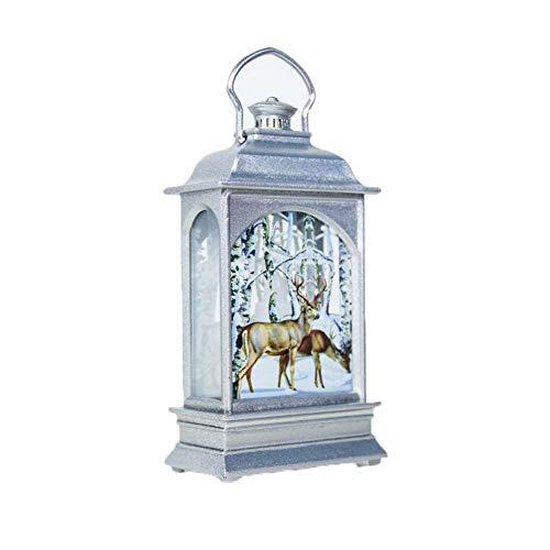 Waroomss Weihnachtslaternen-Dekoration, leuchtende Weihnachtsverzierungs Inneneinrichtung mit warmen LED Lichtern, Weihnachtsbaumdekorationen Weihnachtsgeschenk - Es Hängen Schmuck Organizer