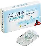 Acuvue Advance Lentes de contacto tóricas quincenales para astigmatismo, R 8.6, D 14.5, -3.25 dioptría, cilindro -0.75, eje 10-6 lentillas