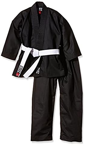 Blitz Poly Cotton Student Karate Suit - Black, 0 - 130 cm