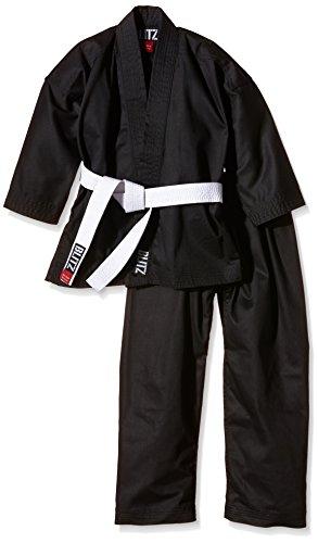 Blitz Poly Baumwolle Student Karate Anzug, Schwarz, 1-140cm