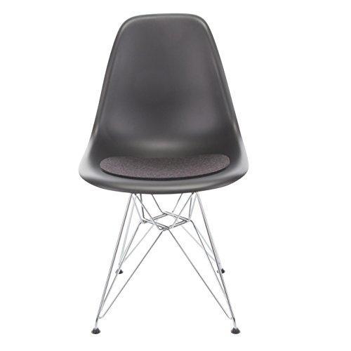Hey-Sign Sitzauflage Eames Sidechair antirutsch, graphit grau Filz