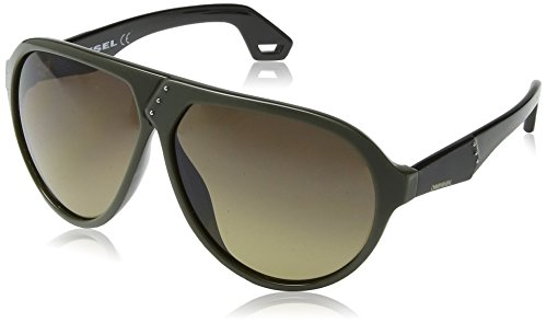 Diesel - occhiali da sole dl0003 wayfarer, green black frame / gradient grey