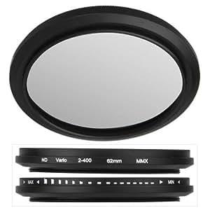 ND2-ND400 62mm Neutraldichtefilter Graufilter Fader ND Filter Verstellbar