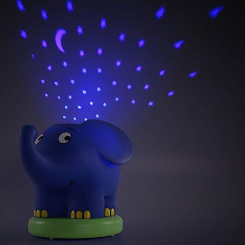 Imagen 6 de Ansmann 1800-0015 - Proyector de luz nocturno con estrellas en forma de elefante