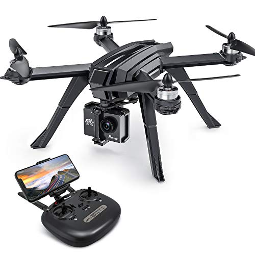 Potensic GPS Drohne mit 2K Kamera, WiFi FPV RC Quadrocopter, Dual GPS, Live Übertragung, Bürstenloser Motor, 130° Weitwinkel, Follow Me, Höhe-Halten, Headless Modus für Actionkamera und Experte D85