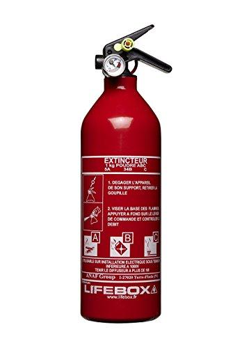 Lifebox  Extincteur à Poudre ABC 1 kg
