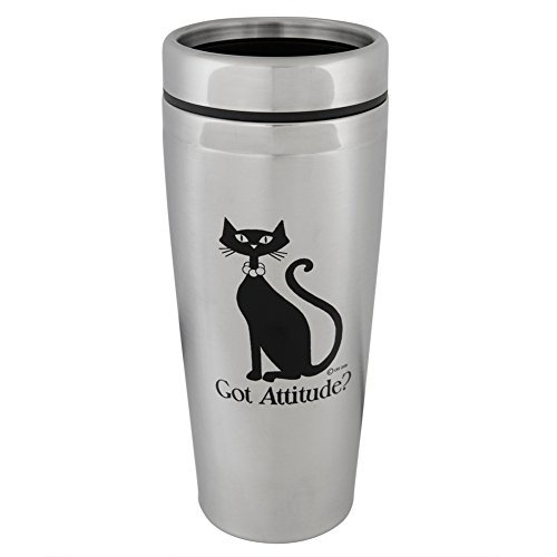 Got Attitude Cat Stainless Steel Travel Mug by CRT