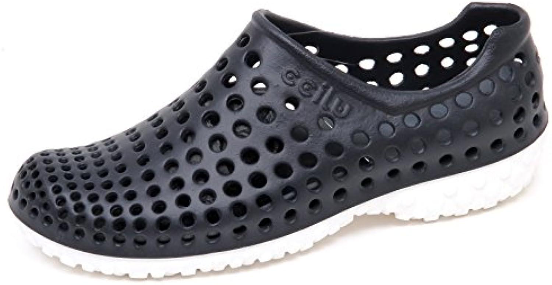 E8206 (Without Box) Sneaker uomo Black Rubber CCILU Cell Sandal Slip on Shoe Man