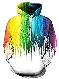 Idgreatim Herren Kapuzenpullover Pullover Hoodie Frauen Sweatshirts Galaxy Printed Lose Beiläufige 3D Hooded Sweatshirt Jacke Mäntel
