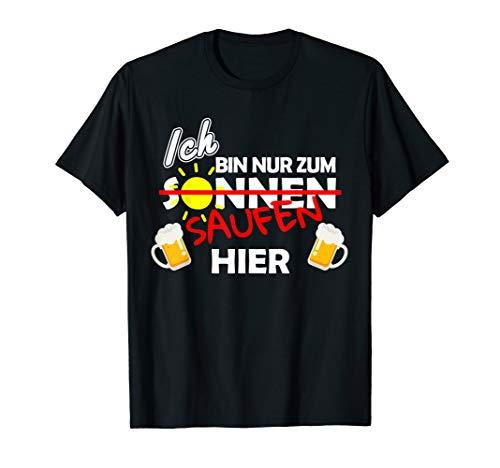 Mallorca Bier TShirt JGA Party Shirt Ich bin zum Saufen hier