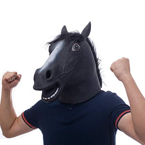 molezu Pferdemaske für Halloween Maske Latex Tiermaske Erwachsene Pferdekopf Pferd Kostüm für Weihnachten Party ()