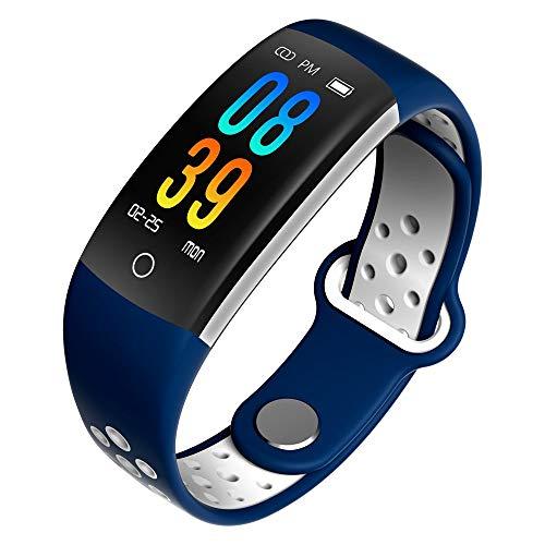 AZWE Farbdisplay Armband Blutdruck Pulsoximeter Step Motion Smart Armband Smart Watch,Blau