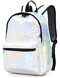 d9311310f0 Zaino Casual Zaino Impermeabile per Viaggio scuola e business Computer  lapto Zaino Scuola Bambina, Zaino Donna Pelle PU Laser,…