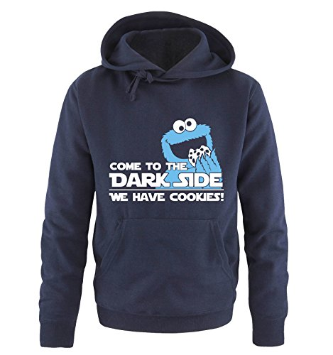 COME TO THE DARK SIDE - WE HAVE COOKIES - Herren Hoodie Navy Gr. (Hoodie Yoda)