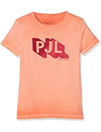 Pepe Jeans John Jr, Camiseta Niñas, Naranja (Life Orange), 10 años (Talla del fabricante: 10)