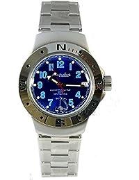Vostok 060382 de anfibios/2416b Militar ruso buceo reloj Anchor azul marino 200 M Auto